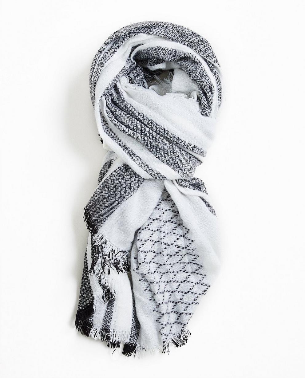 Sjaal met ruiten - en franjes - JBC